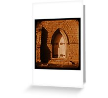 Cathedral Door Greeting Card