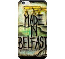 Made in Belfast oil pastel iPhone Case/Skin