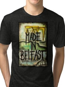 Made in Belfast oil pastel Tri-blend T-Shirt