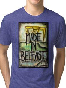 Made in Belfast oil pastel Tri-blend T-Shirt