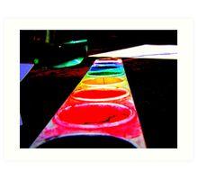 Paint the rainbow Art Print