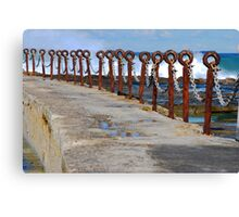 Rusty Chain Fence - Canoe Pool, Newcastle Beach NSW Canvas Print