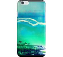Red Arrows over Carrickfergus Northern Ireland iPhone Case/Skin
