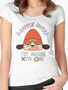 U Rappin' Awful! Women's Fitted Scoop T-Shirt