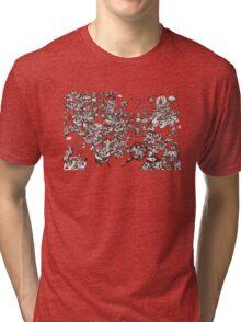 inky_sky_maze_t1 Tri-blend T-Shirt