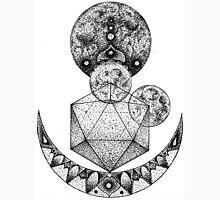 Dotwork Geometry Moons White Unisex T-Shirt