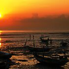 Boat and Sunrise by Frederick Tanjaya