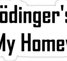 Schrodinger's Cat Ate My Homework Sticker