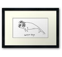 Beetlejuice Beluga Framed Print