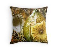 Cape Gooseberry collage Throw Pillow