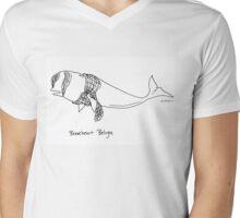 Braveheart Beluga Mens V-Neck T-Shirt