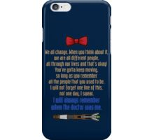 Eleven goodbye iPhone Case/Skin
