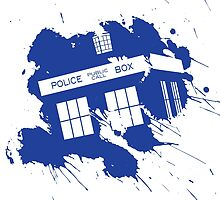 Splash tardis by DesignKi