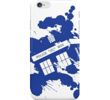 Splash tardis iPhone Case/Skin