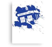 Splash tardis Canvas Print