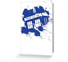 Splash tardis Greeting Card