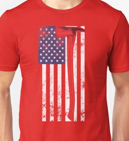 American Fire Service (red) Unisex T-Shirt