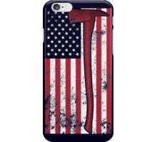 American Fire Service (blue) iPhone Case/Skin