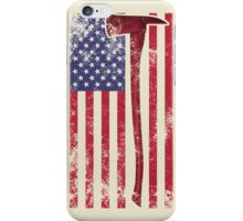 American Fire Service (white) iPhone Case/Skin