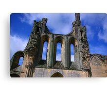 Empty Windows - Byland Abbey Canvas Print