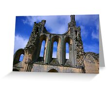 Empty Windows - Byland Abbey Greeting Card