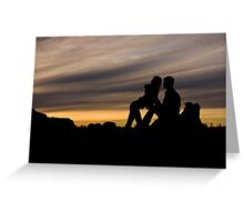 Sunset Romance Greeting Card