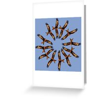 Red kite circles Greeting Card