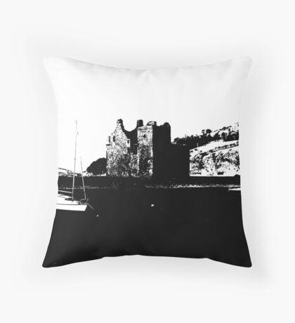 Lochranza Castle: Stark   Throw Pillow