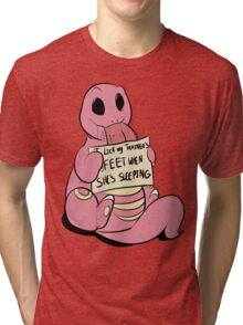 Lickitung Issues Tri-blend T-Shirt