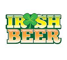 IRISH BEER in green Photographic Print