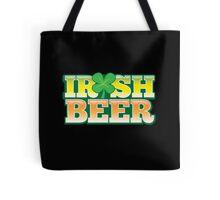 IRISH BEER in green Tote Bag