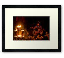 Monkey Dance - Ubud, Bali Framed Print