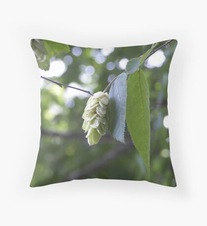 leaves for lora Throw Pillow