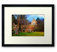 Church Service - Hill End - The HDR Series Framed Print