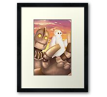 """Big Hero 6"" & ""Iron Giant"" - CROSSOVER Framed Print"