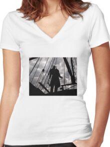Nosferatu - Still the scariest vampire Women's Fitted V-Neck T-Shirt