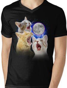 Exclusive Three Cat Moon Design! Mens V-Neck T-Shirt
