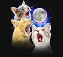 Exclusive Three Cat Moon Design! Unisex T-Shirt
