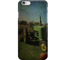 Yesteryear Antique John Deere Tractor on The Farm iPhone Case/Skin