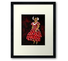 Flamenco Girl Framed Print