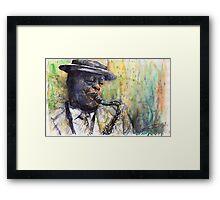 Jazz Saxophonist 1 Framed Print