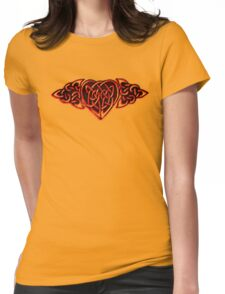 Intricate Heart Womens Fitted T-Shirt