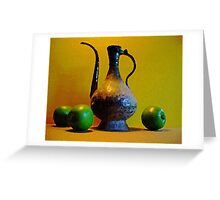 Green Apples with Indian Pitcher Greeting Card