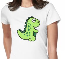 Comic dinosaur Womens Fitted T-Shirt