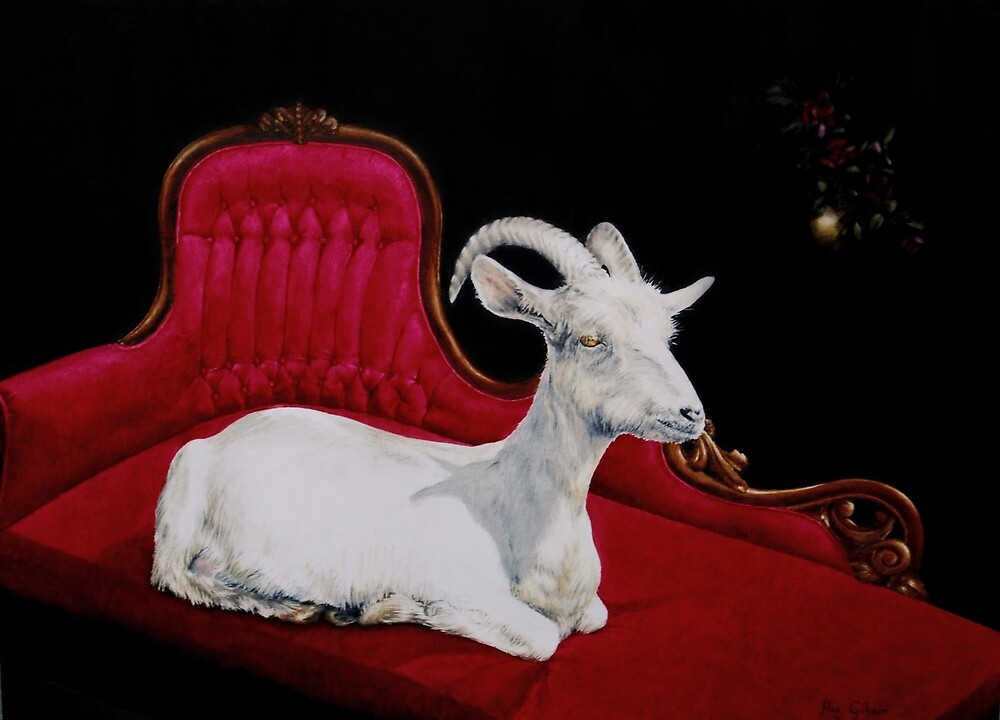 Reclining Goat by ria gilham