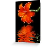 Lilie Reflections Greeting Card