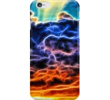 Funky Glowing Electrified Rainbow Clouds Abstract iPhone Case/Skin