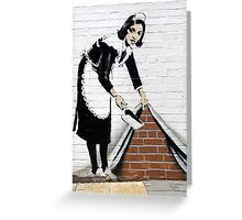Banksy Maid Greeting Card