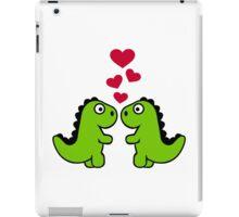 Dinosaur red hearts love iPad Case/Skin
