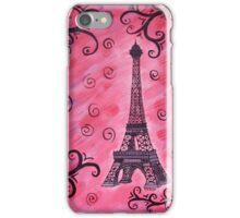 Eiffel Tower in Pink iPhone Case/Skin